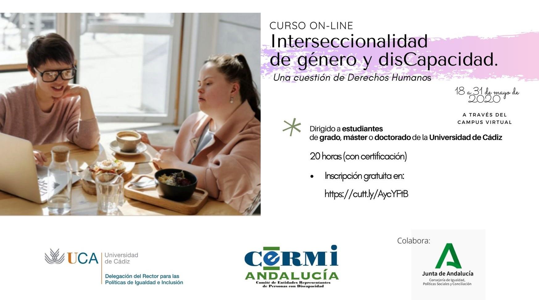 """Curso on-line """" Interseccionalidad de Género y disCapacidad"""""""