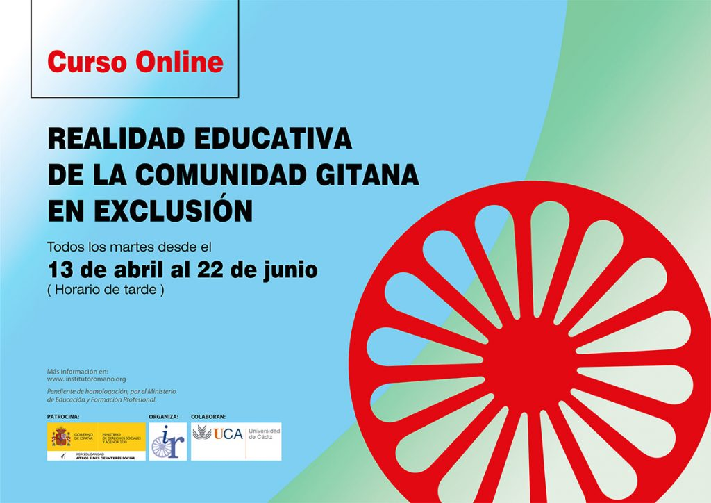 CURSO ONLINE: REALIDAD EDUCATIVA DE LA COMUNIDAD GITANA EN EXCLUSIÓN
